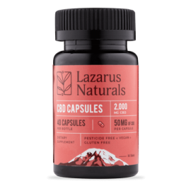 Lazarus Naturals Super Potency CBD Pills 50mg per pill!